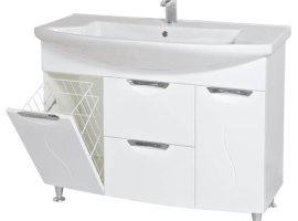 тумба для ванной с корзиной