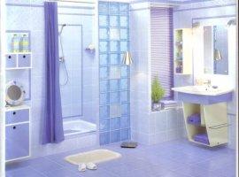 Стеклоблоки в ванной комнате фото