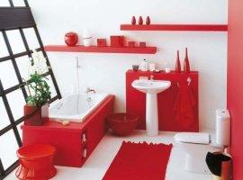 бело-красный-интерьер-ванной-комнаты