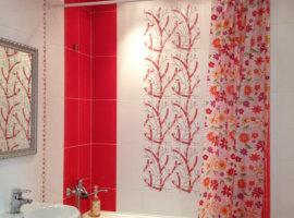 бело красная ванная фото
