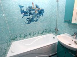 панели пвх в ванной комнате фото