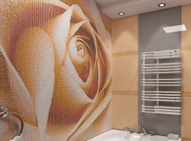 Панно из мозаики на стенах ванной