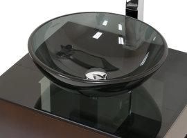 Стеклянные раковины для ванной совмещённая со столешницей