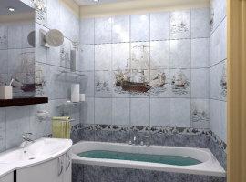 Дизайн плитки ванной комнаты фото