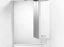 Зеркало Виола-60 с полкой и шкафчиком (правое)