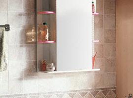 Зеркало-шкаф для ванной комнаты Кристалл