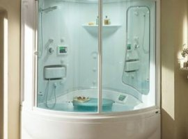ванная с душевой кабиной совмещенная