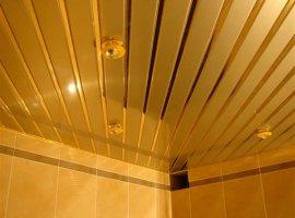 реечный потолок в ванную