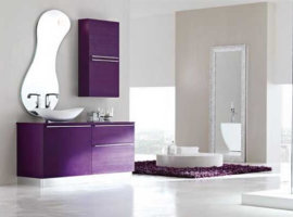 дизайн ванной комнаты фиолетового цвета