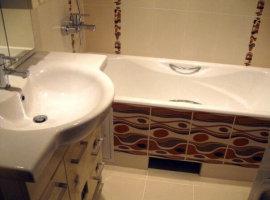 как отделать ванную комнату плиткой