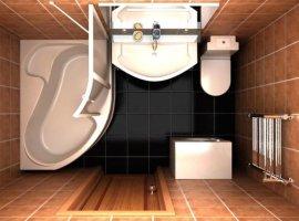 ванная комната 170х170 дизайн