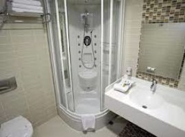 Дизайн ванной комнаты 4 кв.м с душевой кабиной
