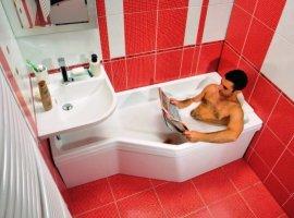 кафель в ванной красно белый