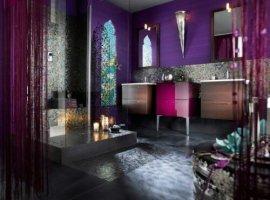 мебель для ванной комнаты фиолетовая