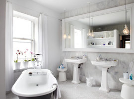 Дизайн белой ванной комнаты фото