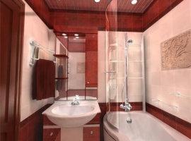 ванная в бело красных тонах
