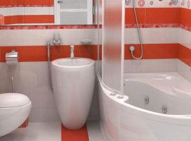 красно белая ванная