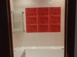 красный кафель в ванной фото