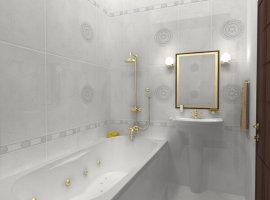 красивый дизайн небольшой ванной комнаты