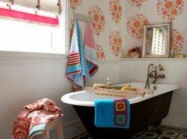 Моющиеся обои в ванной
