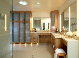 навесной шкаф в ванную
