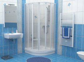 ванная с душевой кабиной в хрущевке