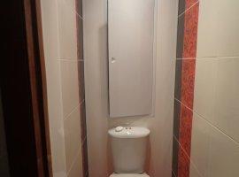 ванная в красно белом цвете