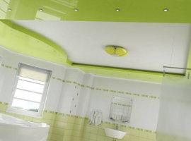 Потолок натяжной в ванной