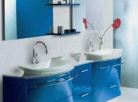 Синяя навесная мебель