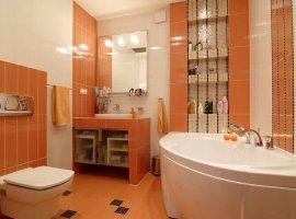 Оранжевая ванная комната фото