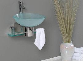 Стеклянные парящие раковины для ванной