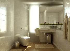 размер ванной комнаты