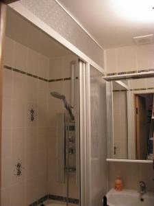 штора для ванной пластиковая раздвижная