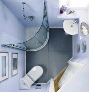 Ванная комната с душевой кабиной фото