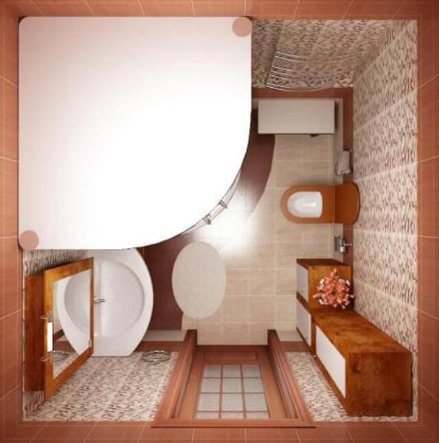 Фото дизайн ванной комнаты с душевой
