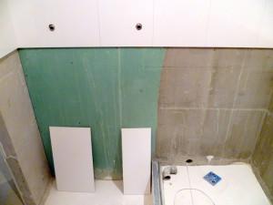 плитка на гипсокартон в ванной