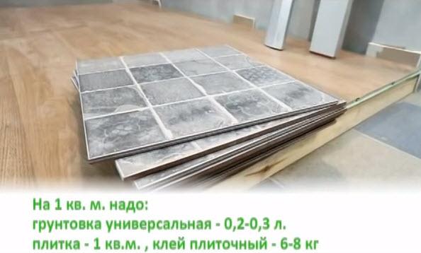 Материалы для укладки плитки на пол
