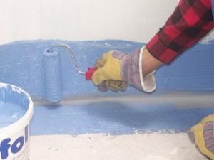 Окрасочный способ гидроизоляции пола