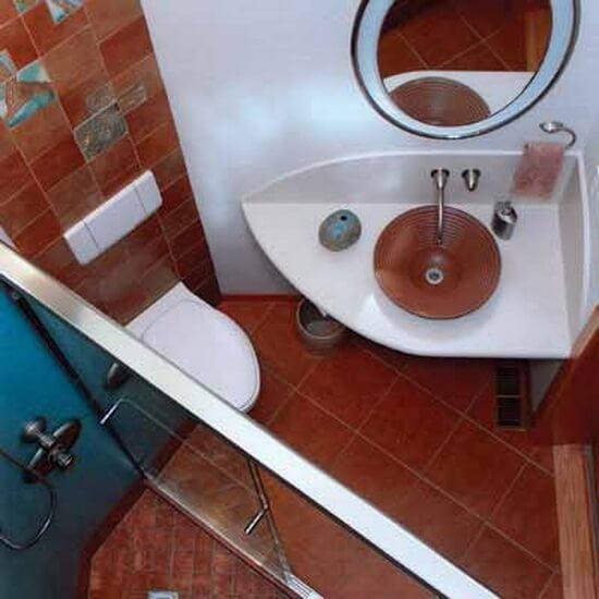 Дизайн ванной комнаты с душевой кабиной в хрущевке