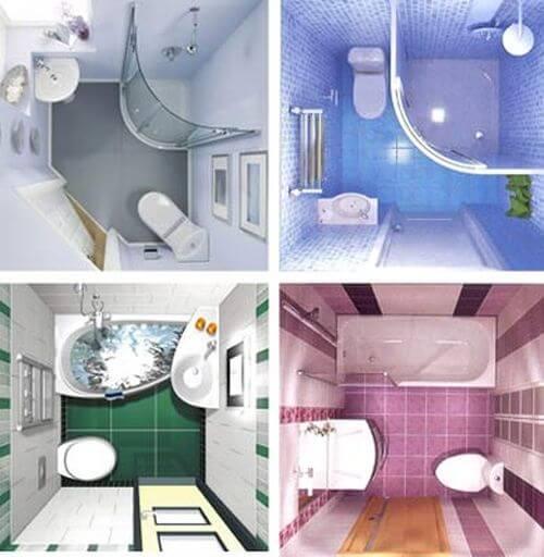 Фото ванной комнаты 170х170