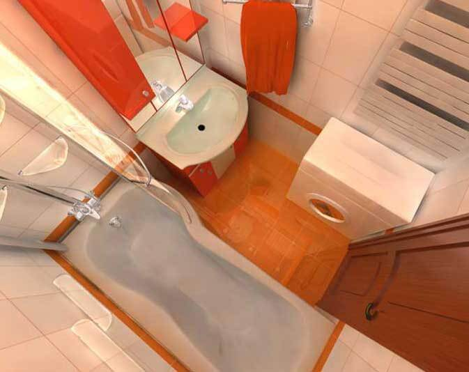 Дизайн ванной комнаты 4 кв.м - фото, с