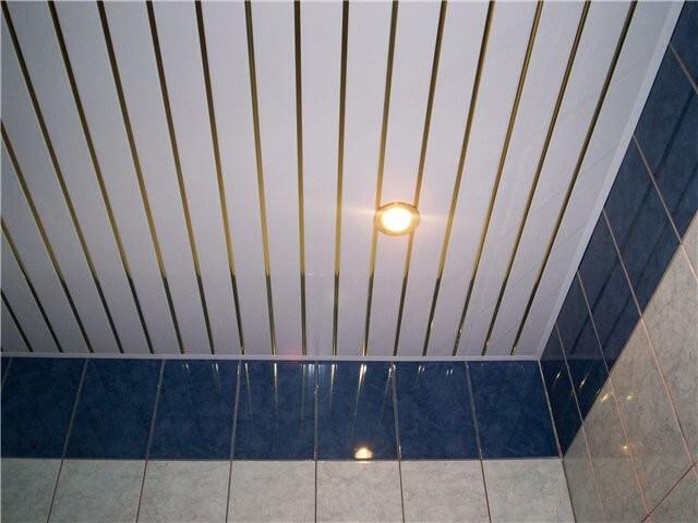 Потолок в ванной комнате - Натяжной