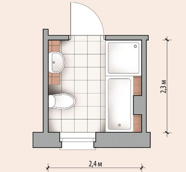 планировка ванной комнаты 6 кв