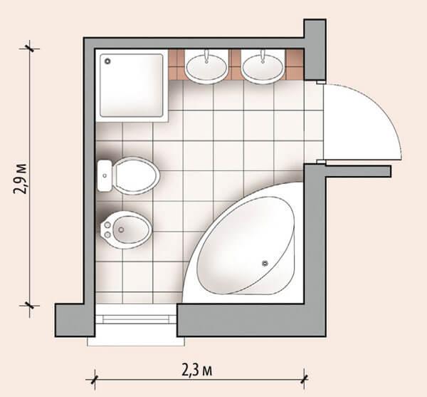Ванная комната 6 кв м дизайн фото