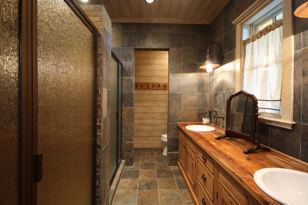 Slate bathroom