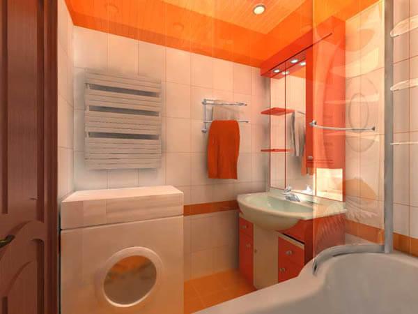 Современный дизайн ванной комнаты 6 кв м с туалетом и стиральной машиной 98