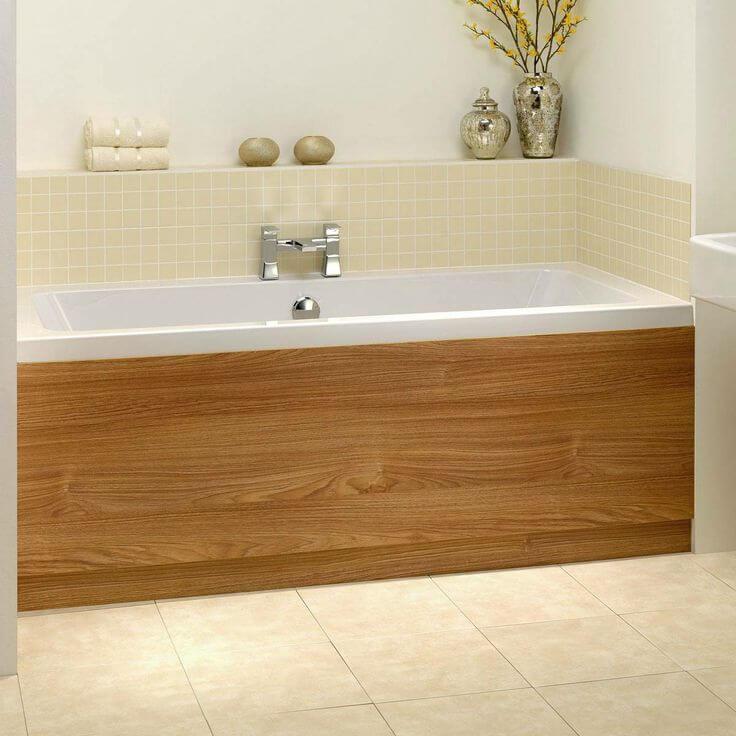 деревянный экран для ванной
