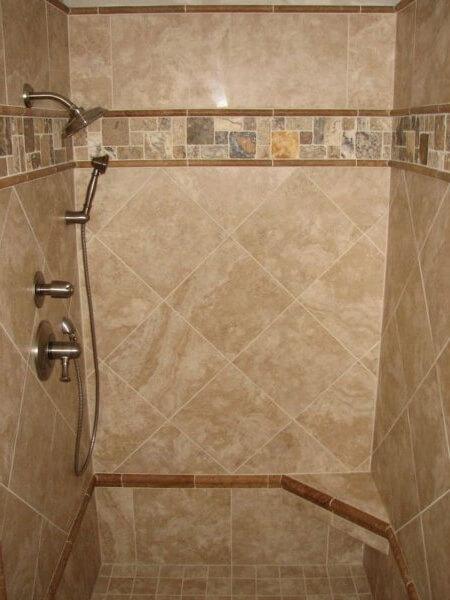 Раскладка плитки в ванной Раскладка по диагонали