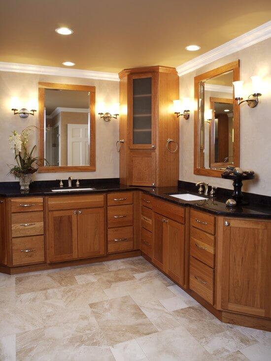 Corner bathroom cabinets