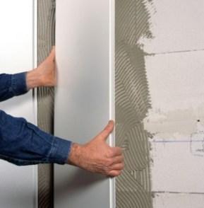 Крепление влагостойких панелей к стене